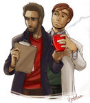 House_and_Wilson____and_coffee_by_vejiita4eva